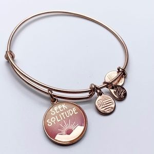 Alex & Ani Seek Solitude Rose Gold Tone bracelet